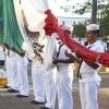 Conmemoran emblema nacional y abanderamiento de escoltas en día de La Bandera