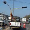 Instalan semáforos en cruce carretero Las Juntas-Ixtapa