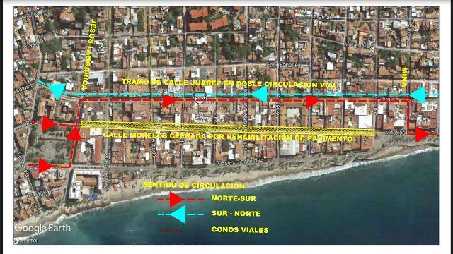 Cierre calle Morelos-obras remodelación
